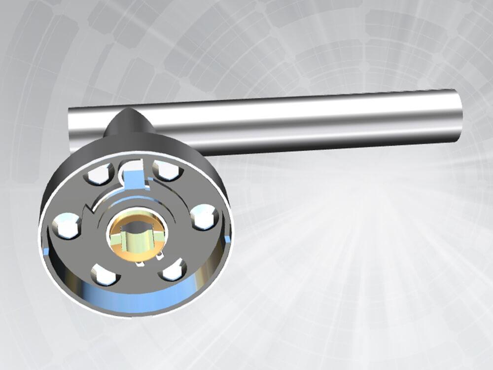 Stainless steel door handle DH0001
