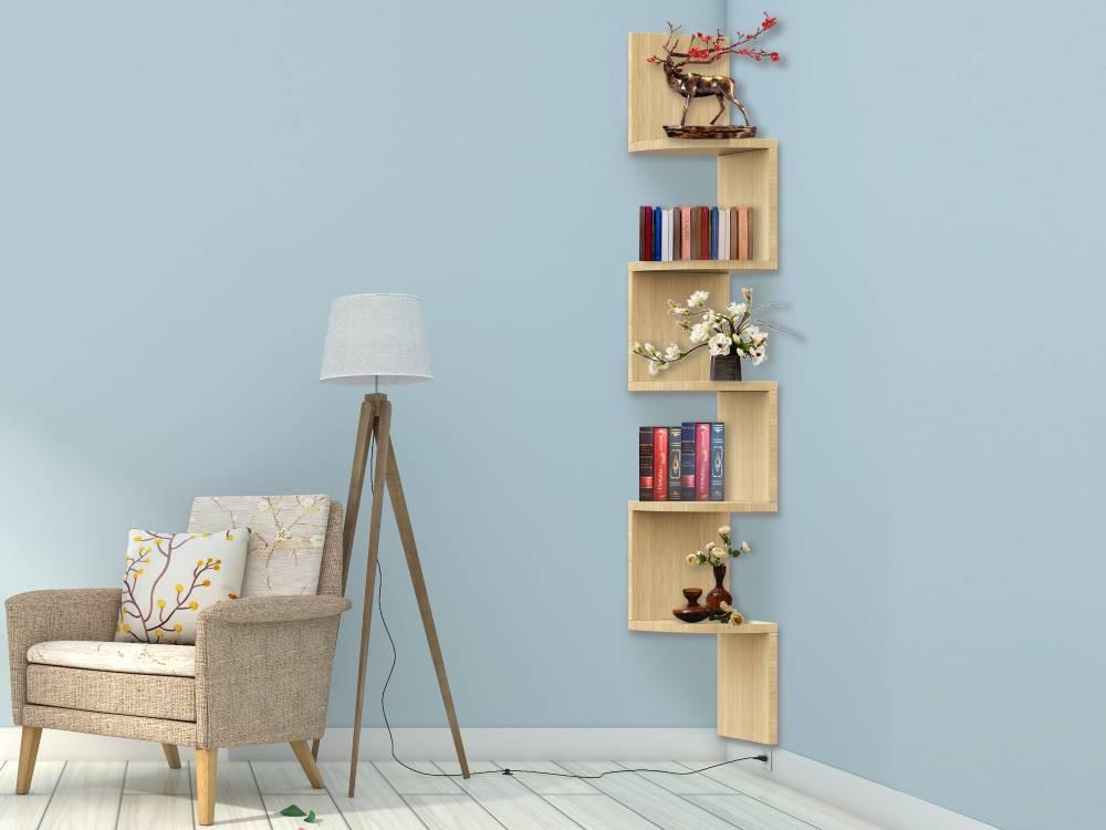 Zig Zag Corner Shelves