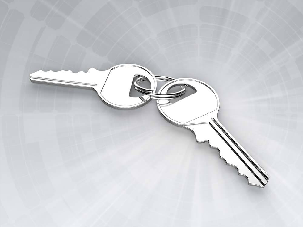 Keys for padlock